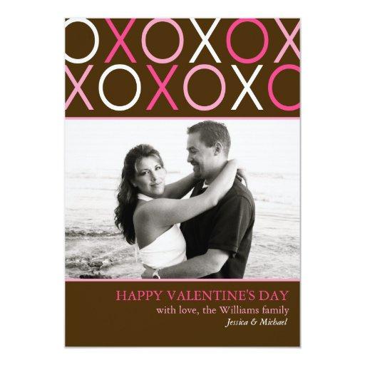 XOXO Valentine's Day 5x7 Paper Invitation Card
