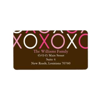XOXO Valentine's Day Label