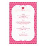 XOXO Valentine's Day Party Menu Decor Set Personalized Flyer