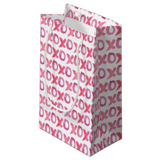 Gift Bags - XOXO Valentine's Day Patterned Small Gift Bag