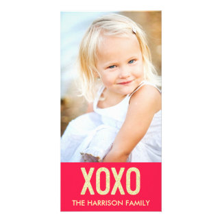 XOXO Valentine's Day Photo Card