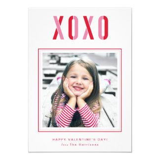 """XOXO Valentine's Day Photo Card Personalized 5"""" X 7"""" Invitation Card"""