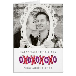 XOXO Valentine's Day Photo Note Card