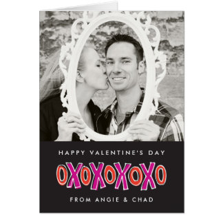 XOXO Valentine's Day Photo Note Card