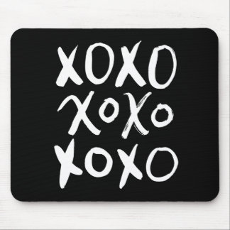 XOXO | White Brush Script Mouse Pad