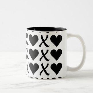 XOXO White Two-Tone Coffee Mug