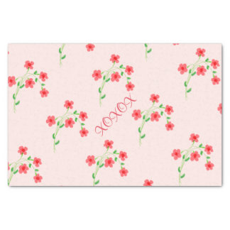 XOXOXO Pink Tissue Tissue Paper