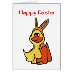 XP- tarjeta feliz del Pato-conejito de Pascua