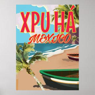 Xpu Há Mexico beach poster