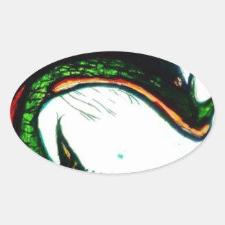 Xqzra Astrobiological Symbiotic Rebreather Oval Sticker
