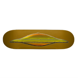 XR71 Golden MonGoose Racer No.1 Gold Leader Skateboard Deck