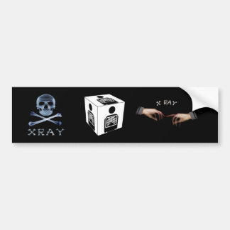 XRAY CUBE BOX RADIOLOGY DIAGNOSTIC IMAGING BUMPER STICKER
