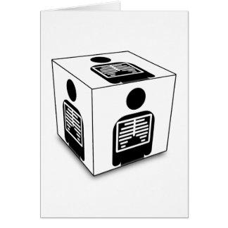XRAY CUBE BOX RADIOLOGY DIAGNOSTIC IMAGING CARD