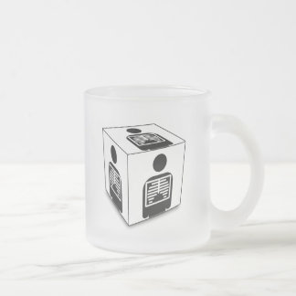 XRAY CUBE BOX RADIOLOGY DIAGNOSTIC IMAGING FROSTED GLASS COFFEE MUG