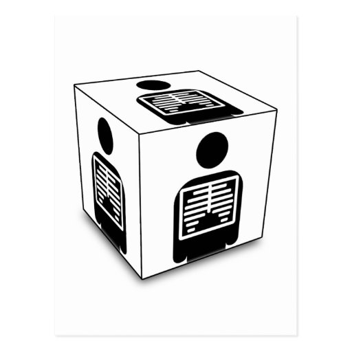 XRAY CUBE BOX RADIOLOGY DIAGNOSTIC IMAGING POSTCARD