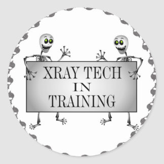 Xray In Training Classic Round Sticker