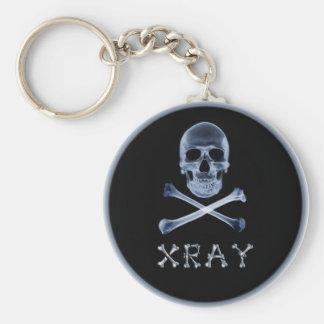 XRAY PIRATE Flag RADIOLOGY JOLLY ROGER Basic Round Button Keychain