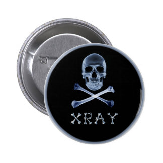 XRAY PIRATE Flag RADIOLOGY JOLLY ROGER Pins
