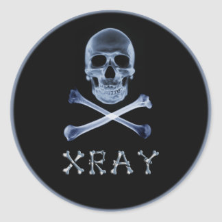 XRAY PIRATE Flag RADIOLOGY JOLLY ROGER Classic Round Sticker