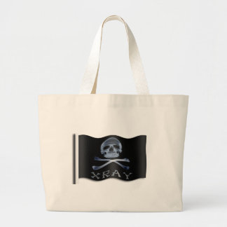 XRAY PIRATE Flag RADIOLOGY JOLLY ROGER Large Tote Bag