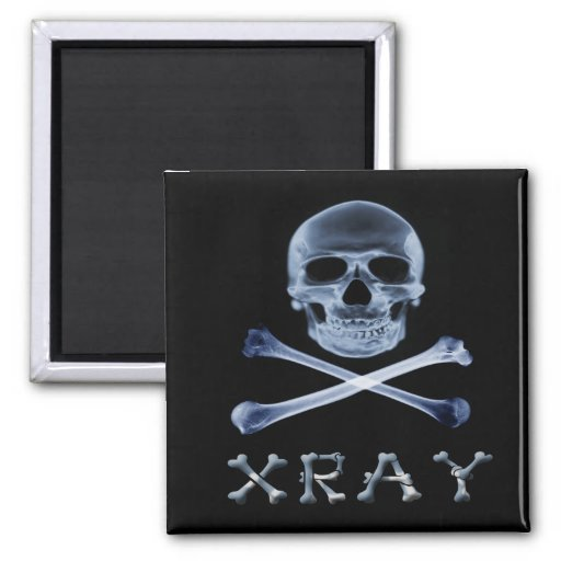 XRAY PIRATE Flag RADIOLOGY JOLLY ROGER Magnets