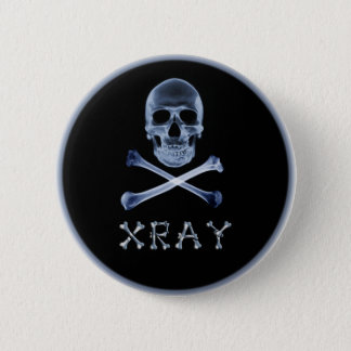 XRAY PIRATE Flag RADIOLOGY JOLLY ROGER Pinback Button