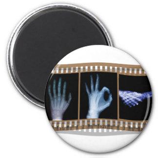 XRAY SIGN LANGUAGE FILM - HAND OK HANDSHAKE 2 INCH ROUND MAGNET