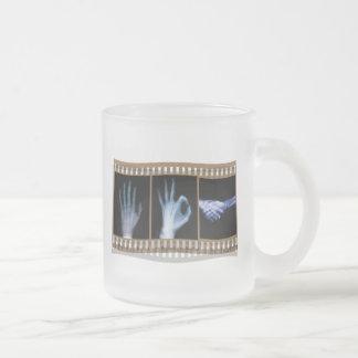 XRAY SIGN LANGUAGE FILM - HAND OK HANDSHAKE 10 OZ FROSTED GLASS COFFEE MUG