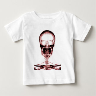 XRAY SKELETON SKULL BLACK RED BABY T-Shirt