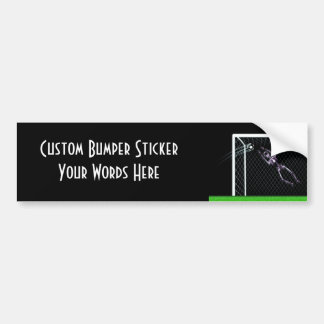 XRAY SKELETON SOCCER GOALIE ORIGINAL BUMPER STICKER