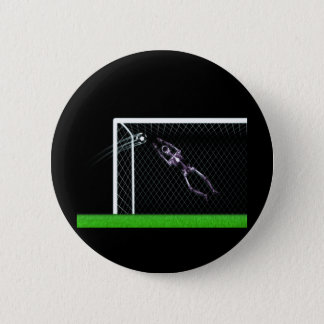 XRAY SKELETON SOCCER GOALIE ORIGINAL BUTTON