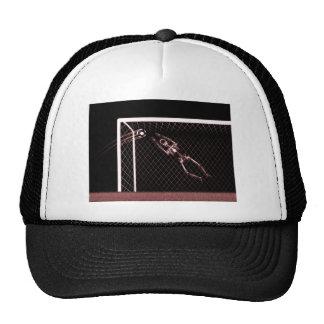 XRAY SKELETON SOCCER GOALIE RED TRUCKER HAT