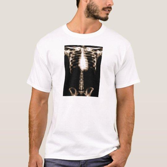 XRAY SKELETON TORSO RIBS SEPIA T-Shirt