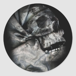 XRay Skull Head Scan Classic Round Sticker