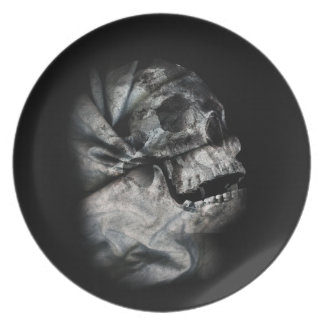 XRay Skull Head Scan Skeleton Melamine Plate