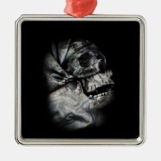 XRay Skull Head Scan Skeleton Metal Ornament