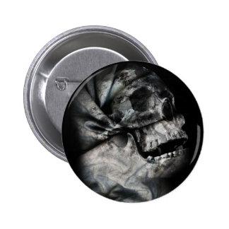 XRay Skull Head Scan Skeleton Pinback Button