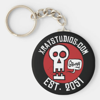 Xray Studios Est 2051 Key Ring Basic Round Button Keychain
