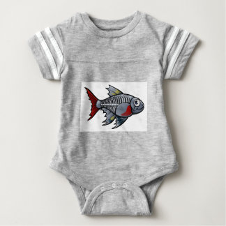 XRay Tetra Fish Cartoon Character Baby Bodysuit