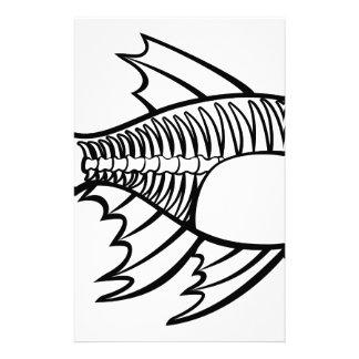 XRay Tetra Fish Cartoon Character Stationery