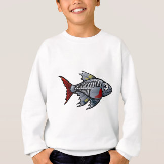 XRay Tetra Fish Cartoon Character Sweatshirt
