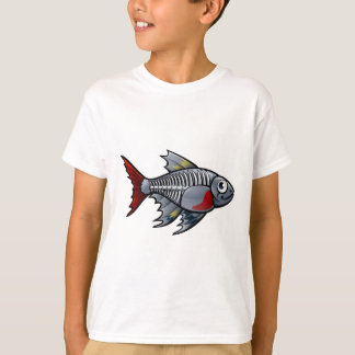 XRay Tetra Fish Cartoon Character T-Shirt