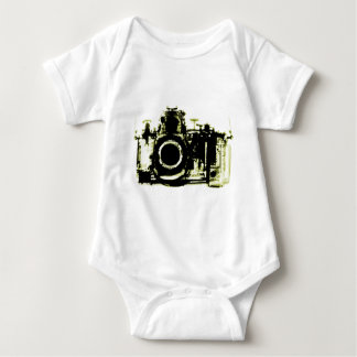 XRAY VISION CAMERA BLACK YELLOW BABY BODYSUIT
