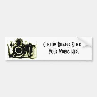 XRAY VISION CAMERA BLACK YELLOW CAR BUMPER STICKER