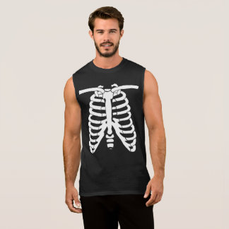 Xray white skeleton bones sleeveless shirt