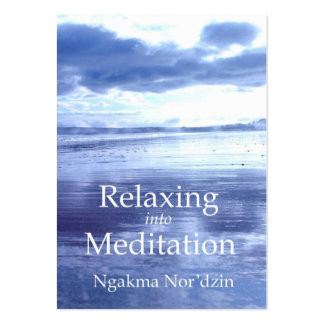 xRelaxing into Meditation Publicity[business card] Large Business Card