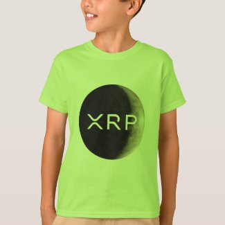 xrp, moon logo, boys T-Shirt