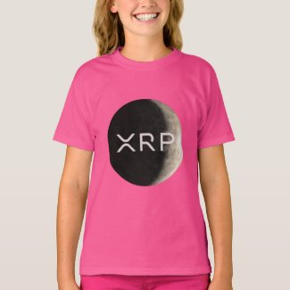 xrp, moon logo, girls T-Shirt