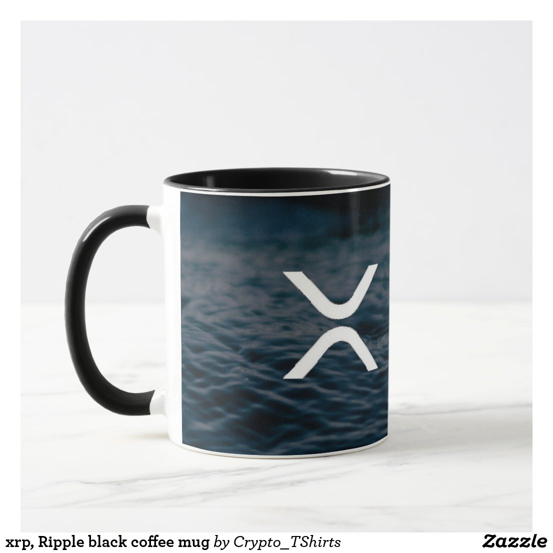 xrp, Ripple black coffee mug