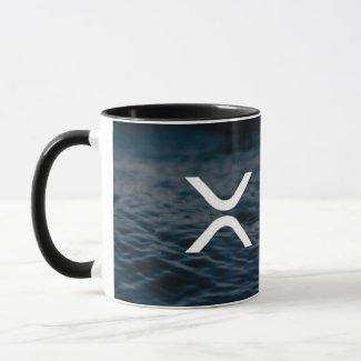xrp, Ripple black coffee mug